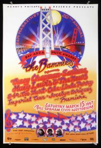 Bammies Poster 20th Anniversary Santana Huey Lewis Cake 1997 by Randy Tuten