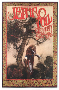 Jethro Tull Poster at Tanglewood MA 1970 2017 Tribute Print Signed Bob Masse