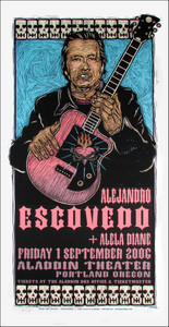 Alejandro Escovedo Alela Diane Poster Signed Ltd Silkscreen by Gary Houston