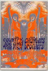 Country Joe & the Fish Original Handbill Sound Factory Sacramento 1968 Rare Mint