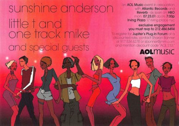 Sunshine Anderson AOLMUSIC ATLANTIC RECORDS Promo Invite @ PlugIn NY 2001