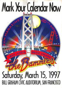 Bam Magazine 1997 BAMMIES 20th Anniversary Announcement Postcard Randy Tuten 6x9