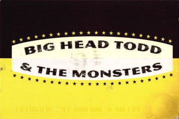 Big Head Todd Invitation to Dinner Before Their '96 Fillmore Show Postcard 4x6