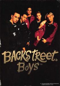 "Backstreet Boys Debut Album Announcement Postcard 2 Jive Records 1996 4""x6"""