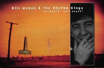 Bill Wyman & Rhythm Kings Rolling Stones Velvel Records Promo Postcard 1998 4x6