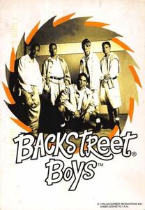 "Backstreet Boys Debut Album Announcement Postcard Jive Records 1996 4""x6"""