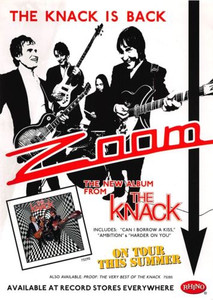 The Knack Rhino Records 90s The Knack is Back Promotional Music Flyer about 5x7