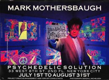 "Mark Mothersbaugh Show Psychedelic Solution Promo Postcard 1997 DEVO 5"" x 7‰ۡó�"