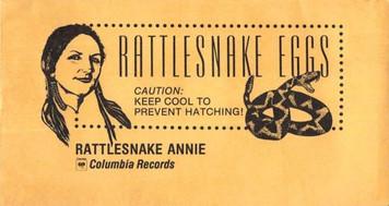 "Rattlesnake Annie ""Rattlesnake Eggs"" CBS Records Promo Envelope 1987 3̴_"" x 6̴_‰ۡó�"