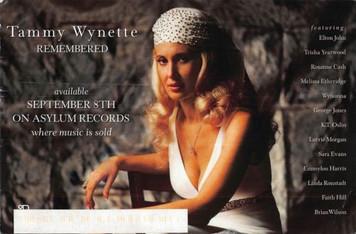 "Tammy Wynette Asylum Records Promotional Postcard about 6"" x 9"" 1998"