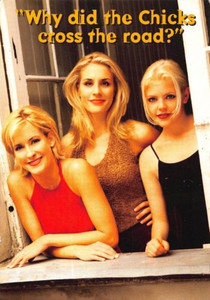 """Why did The Chicks Cross the Road Dixie Chicks Promo Postcard 1997 4"""" x 6"""""""