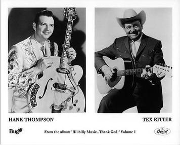 Hank Thompson Tex Ritter Original Vintage Bug Capitol Records 8x10 Press Photo