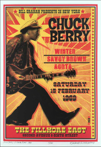 Chuck Berry Fillmore East New Artist's Historic Edition Hand-Signed David Byrd