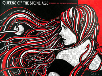 Queens of the Stone Age Poster Fox Theater Detroit 2017 SN 100 Todd Slater