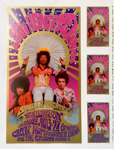 Jimi Hendrix Poster Saville Theater 1967/2002 UNCUT PROOF Bob Masse Sig a Beauty