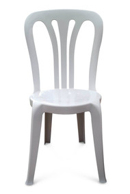 Garrotxa Bistro Patio Chair. White
