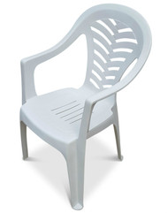 Palma Bistro Patio Chair. White