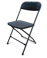 Used Folding Plastic Chairs. Black with Black Frame