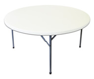 5ft Round Plastic Table