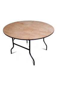 4ft Round Wooden Banqueting Table