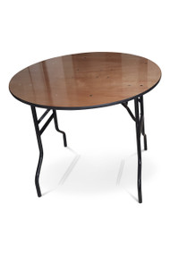 3ft Round Wooden Banqueting Table