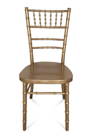 Gold Chiavari Chair with a Curved Back