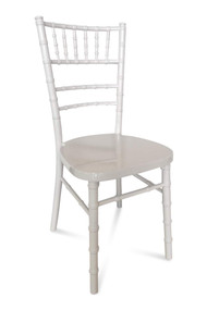 Chiavari Chair. White. Curved back. Excl Seat Pad