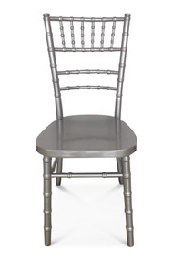 Chiavari Chair. Silver. Curved back. Excl Seat Pad