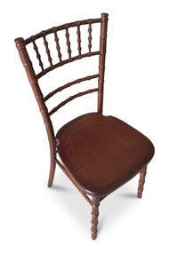 Chiavari Chair. Curved Back. Walnut. Excl Seat Pad