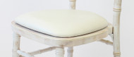 White Faux Leather Seat Pad