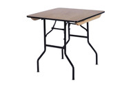 "2ft6"" x 2ft6"" Square Wooden Trestle Table"