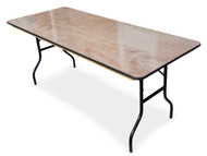 6ft Wooden Trestle Table