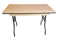 4ft Wooden Trestle Table