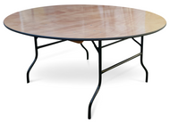 "5ft6"" Round Wooden Banqueting Table"