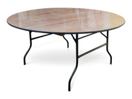 6ft Round Wooden Banqueting Table