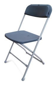 Folding Plastic Chairs - Grey