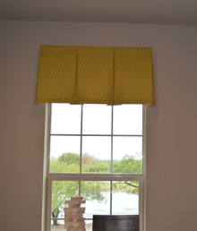 Inverted Pleat Valance on Board