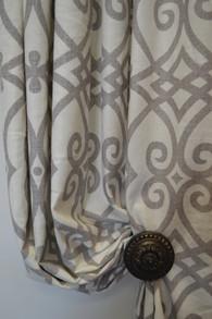 Madison Scroll Grey Pair Panels