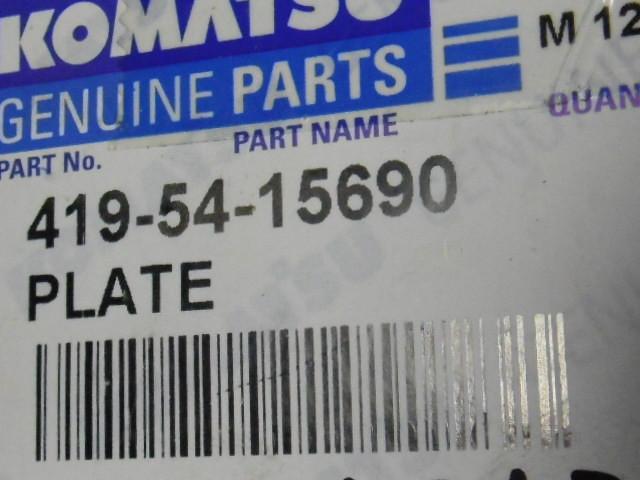 Komatsu Genuine Parts 419-54-15690 Adjustment Plate ! NWB !