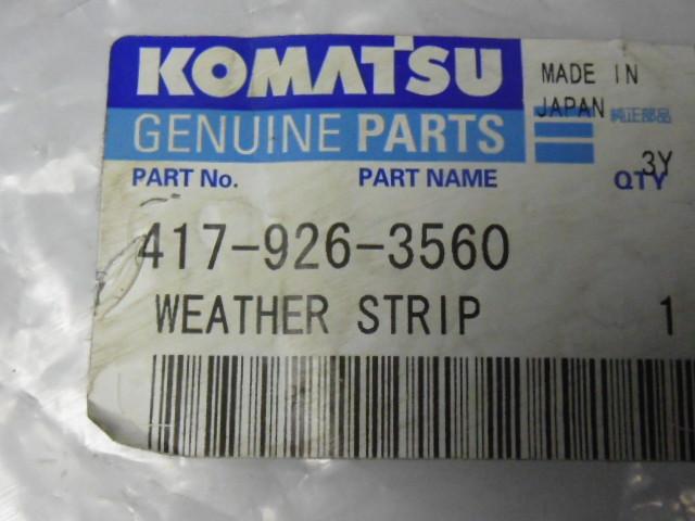 Komatsu Genuine Parts 4179263560 Weather Strip ! NWB !