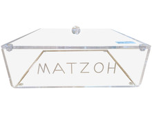 Acrylic Flat Matzah Box With Lid