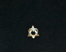 Star of David Heart Pendant