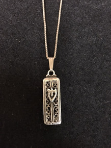 "Sterling Silver 1"" Mezuzah Case Necklace"