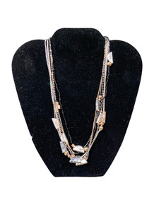 Dganit Hen Silver and Gold Multistring Necklace