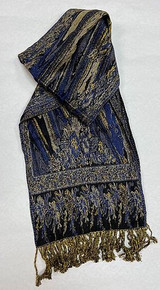 Tri-color Silk-Viscose Scarf by Rapti Fashion