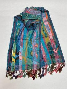 Vibrant Silk-Viscose Scarf by Rapti Fashion