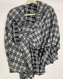 Plaid Cashmere Buckle Wrap by Rapti Fashion