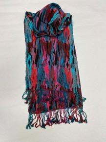 Vibrant Multi-Color Silk-Viscose Scarf by Rapti Fashion