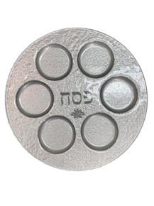 Seder Plate Silver Glass
