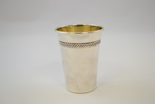 Sterling silver kiddush cup with chain design (RG0033)